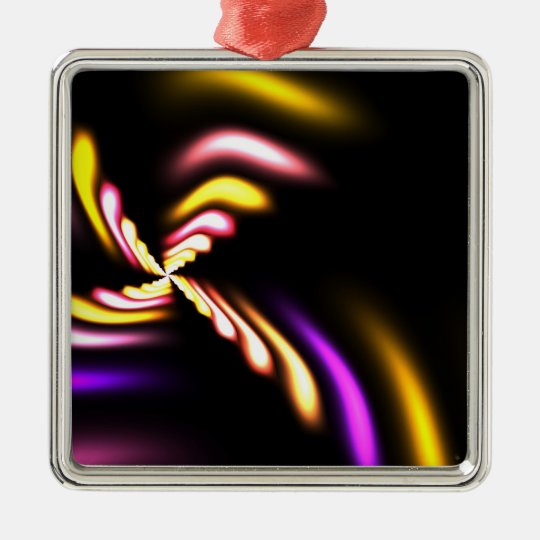 Abstract Fractal Design Metal Ornament