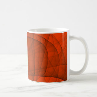 Abstract Fractal Eternal Rounded Cross in Red Coffee Mug