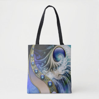 Abstract fractal fantasy tote bag