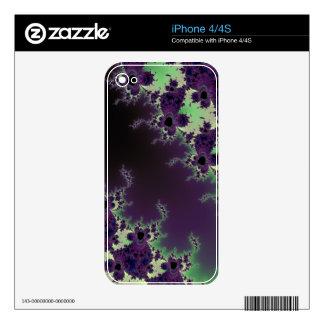 Abstract Fractal Flower Design Phone Skin Skins For iPhone 4S