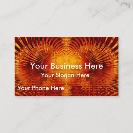 Abstract Fractal Golden Red Tunnel of Light Business Card