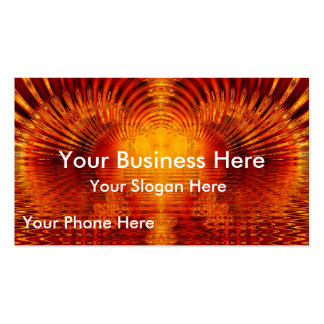 Abstract Fractal Golden Red Tunnel of Light Double-Sided Standard Business Cards (Pack Of 100)