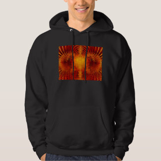 Abstract Fractal Golden Red Tunnel of Light Pullover