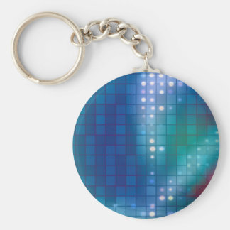 Abstract Fractal Grid Background Basic Round Button Keychain