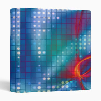 Abstract Fractal Grid Background 3 Ring Binder