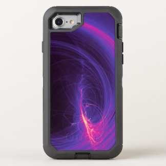Abstract Fractal In Purple and Pink OtterBox Defender iPhone 7 Case