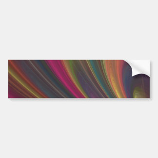 Abstract Fractal Lines Bumper Sticker
