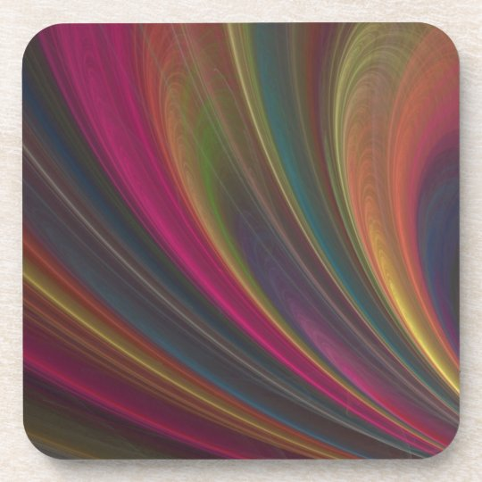 Abstract Fractal Lines Drink Coaster