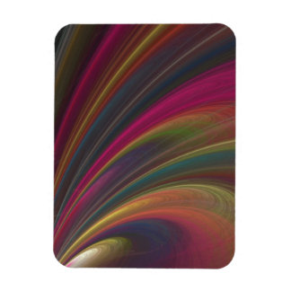 Abstract Fractal Lines Vinyl Magnet
