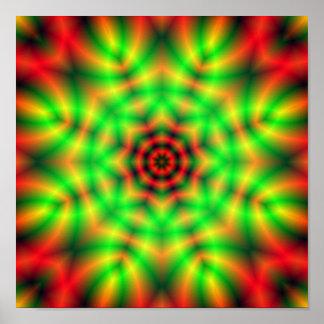 Abstract Fractal Mandala Poster