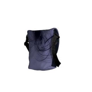Abstract Fractal Messenger Bag