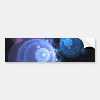 Abstract Fractal Orbs Design Bumper Stickers