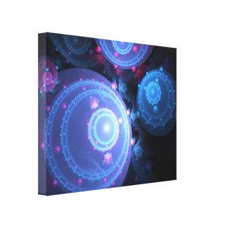 Abstract Fractal Orbs Design Canvas Print