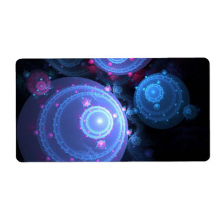 Abstract Fractal Orbs Design Custom Shipping Label