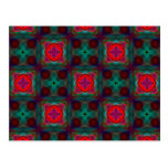 Abstract Fractal Pattern Post Card