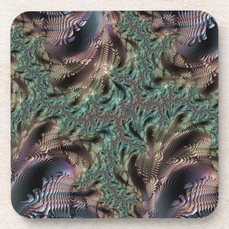 Abstract fractal patterns and shapes. Fractal espe Posavasos