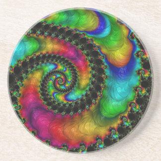 Abstract fractal patterns and shapes. Fractal espe Posavasos Para Bebidas
