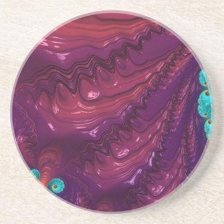 Abstract fractal patterns and shapes. Fractal espe Posavasos Personalizados