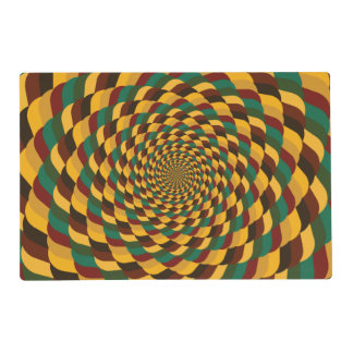 Abstract fractal placemat