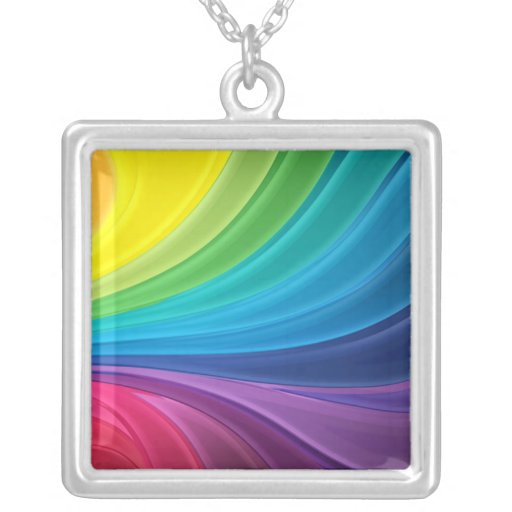 Abstract Fractal Rainbow Necklace