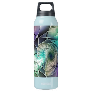 Abstract Fractal Seashell Design Insulated Water Bottle