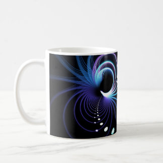 Abstract Fractal Spiral Background Classic White Coffee Mug