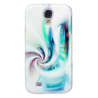 Abstract Fractal Swirl Textured Galaxy S4 Cases