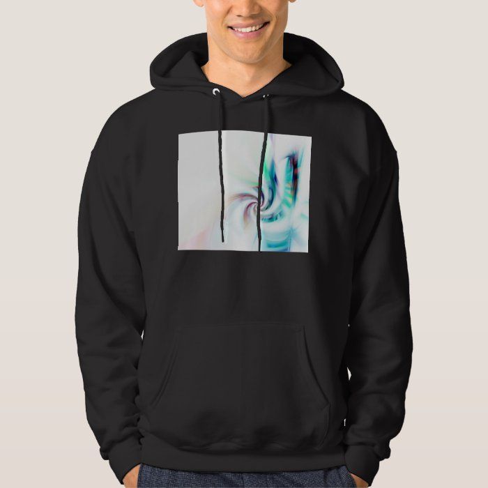 Abstract Fractal Swirl Textured Hoodie
