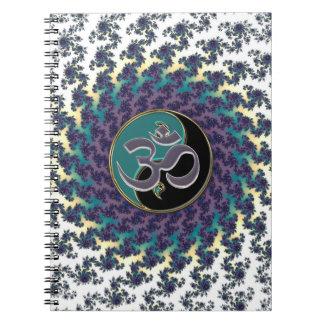 Abstract Fractal Yin-Yang OM Personal Notebook