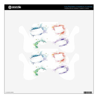 Abstract frames background design skins for PS3 controllers