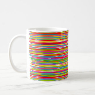 Abstract freehand lines of all colors mugs