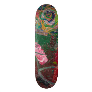 Abstract Freestyle Skateboard Deck