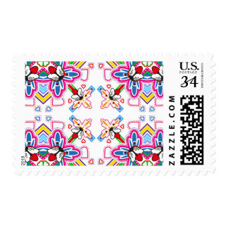 Abstract French Bulldog Pattern Postage
