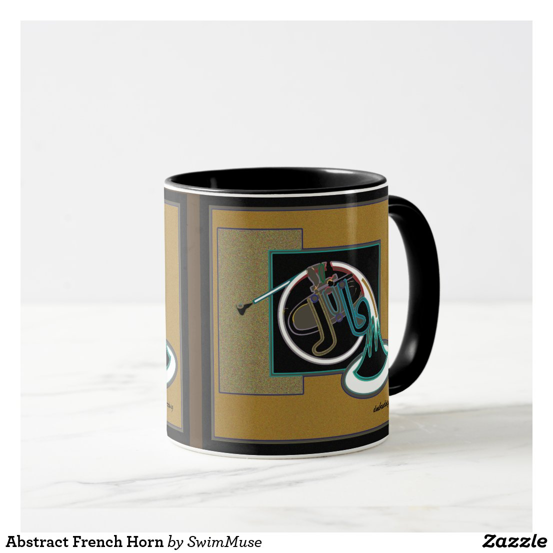 Abstract French Horn Mug