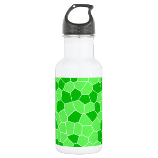 Abstract Fresh Green Spring Leaves Plant Mosaic 18oz Water Bottle