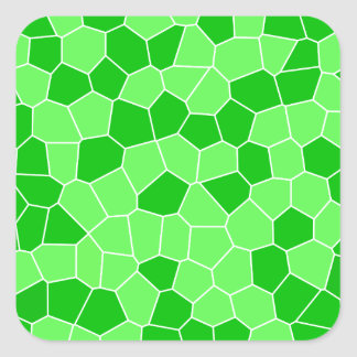 Abstract Fresh Green Spring Leaves Plant Mosaic Square Sticker