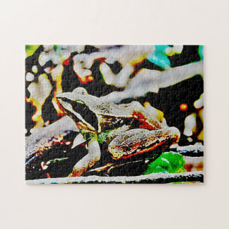 abstract frog jigsaw puzzle