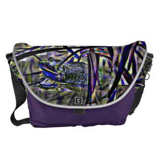 Abstract Froggy Messenger Bags