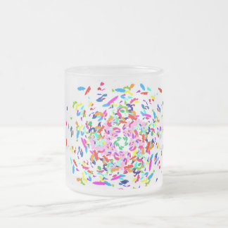 Abstract Frosted Glass Coffee Mug