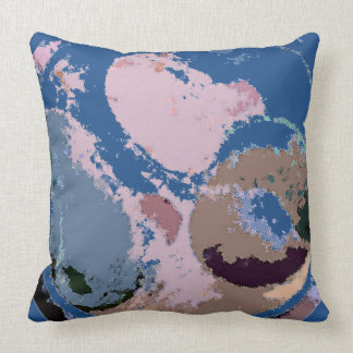 Abstract Fruit Design (customizable) Throw Pillow