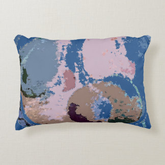 Abstract Fruit in Blue Decorative Pillow