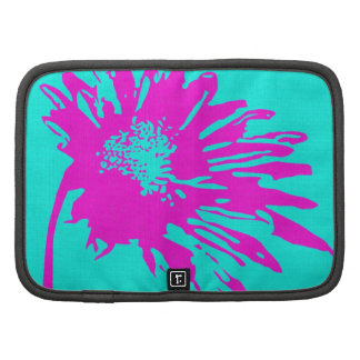 Abstract Fuchsia Flower on Teal Organizers