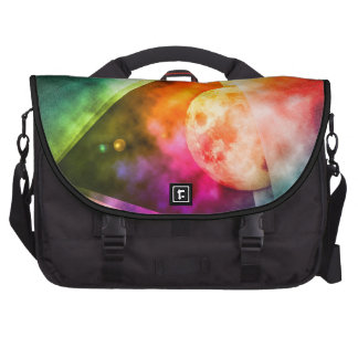 Abstract Full Moon Spectrum Laptop Bags