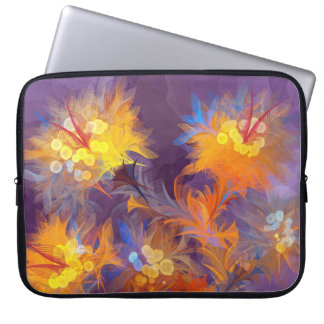 abstract fun flowers wild trendy cute unique boho computer sleeves