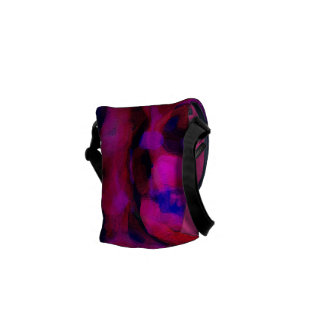 Abstract Funky Bright Colours Art Messenger Bag
