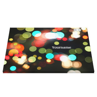 Abstract Funky Hip Colorful Circle Bokeh Lights Gallery Wrap Canvas