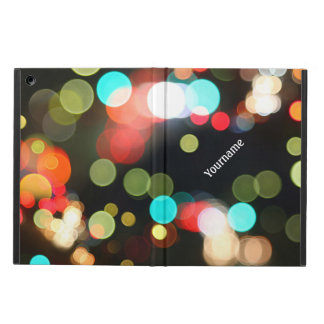 Abstract Funky Hip Colorful Circle Bokeh Lights iPad Air Case