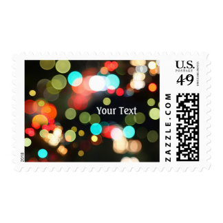 Abstract Funky Hip Colorful Circle Bokeh Lights Postage