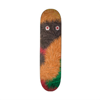 Abstract furry person paattern skateboard