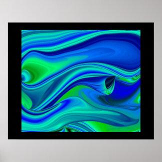 abstract, futurista en negro impresiones